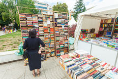 Woman and books Stock Photo