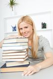 Woman with books Stock Photos
