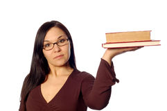 Woman with books Stock Photo
