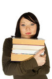Woman with books Royalty Free Stock Photography