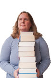 Woman and books Royalty Free Stock Photos