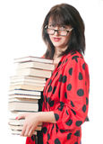 Woman with books Royalty Free Stock Image