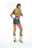 Woman In Boots With HAt Royalty Free Stock Image