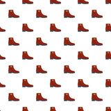 Woman boots pattern seamless. In flat style for any design Stock Illustration