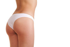 Woman booty in panties Stock Photos