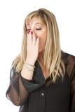 Woman boring faces Stock Photos