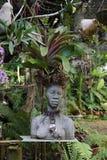 Statue/Bust of Woman - Botanic Garden, Cuba. Sculpture of Naked Woman - Botanic Garden, Santiago de Cuba Stock Photo
