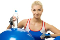 Woman with a bottle of water Stock Photo
