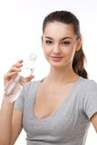 Woman with a bottle of water. Royalty Free Stock Photos