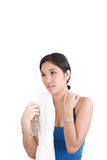 Woman with a bottle of water Royalty Free Stock Image