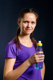 Woman with a bottle of water Stock Photos