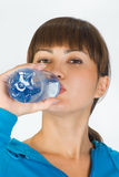 Woman with bottle of water Stock Photography