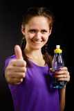 Woman with a bottle of water Stock Image