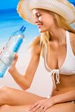 Woman with bottle of water Stock Photo