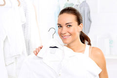 Woman in a boutique Stock Image