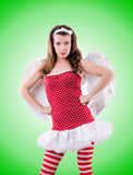 Woman with bow in valentine concept Royalty Free Stock Photography