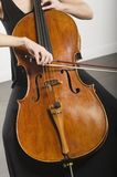 Woman Bowing A Cello Stock Image