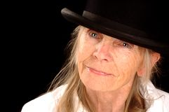 Woman in Bowler Hat Stock Photography