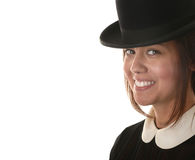 Woman In Bowler hat Stock Image