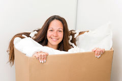 Woman in a box Stock Photography