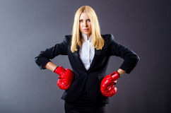 Woman boxer Stock Photos