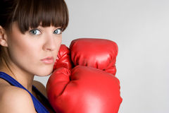 Woman Boxer Royalty Free Stock Photography