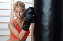 Woman boxer Stock Photos