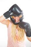Woman boxer Stock Image