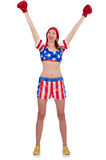 Woman boxer Royalty Free Stock Image