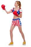 Woman boxer Stock Photography