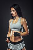Woman boxer portrait Stock Photo