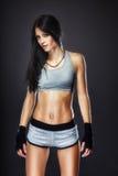Woman boxer portrait Royalty Free Stock Photography