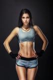 Woman boxer portrait Stock Image