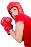Woman boxer Royalty Free Stock Image