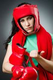 Woman boxer Royalty Free Stock Images