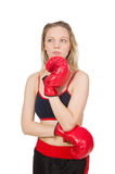 Woman boxer Stock Photo