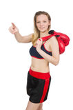 Woman boxer Stock Photography
