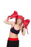 Woman boxer Royalty Free Stock Photos