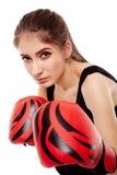 Woman boxer Royalty Free Stock Photo