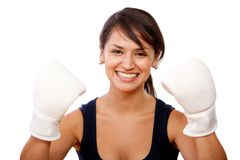 Woman boxing Stock Photos