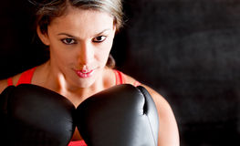 Woman boxing Royalty Free Stock Photography