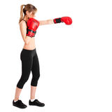 Woman boxing Royalty Free Stock Images
