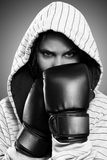 Woman boxing Royalty Free Stock Photos