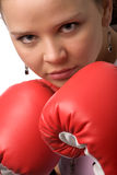 Woman boxing Stock Image
