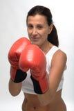 Woman boxing Royalty Free Stock Image