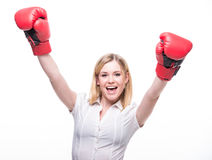 Woman boxing Stock Photography
