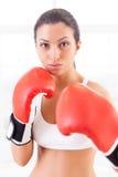 Woman boxing. Royalty Free Stock Image