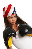 Woman boxing and exercising Royalty Free Stock Images