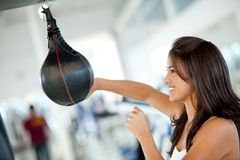 Woman boxing at the gym Royalty Free Stock Photography