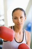 Woman Boxing At Gym Stock Photography